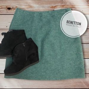 Made in Italy of Benetton 100% Pure Wool Skirt